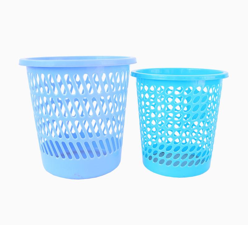 Cubo de basura de 10 litros azul