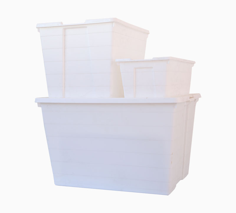 Caja de combinación Caja de almacenamiento Caja Molde blanco