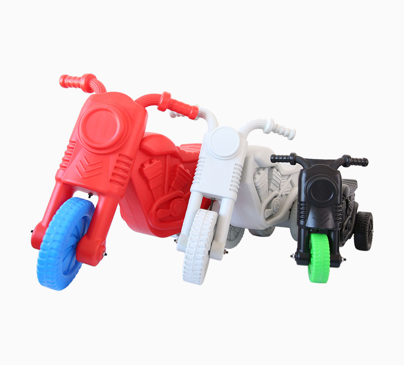 Juguete para niños Motocicleta Soplado Molde rojo blanco