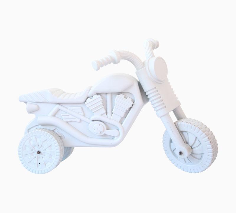 Molde soplador de motos de juguete para niños blanco