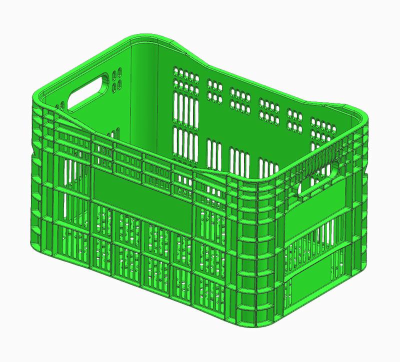Molde de caja de facturación verde
